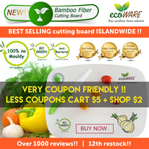ecoWARE 12th RESTOCK [BEST SELLING CUTTING BOARD] Bamboo Fiber Chopping Board | Anti-bacteria