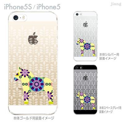 【iPhone5S】【iPhone5】【Vuodenaika】【iPhone5ケース】【カバー】【スマホケース】【クリアケース】【フラワー】【北欧】【ダーラナホース】 21-ip5s-ne0054の画像