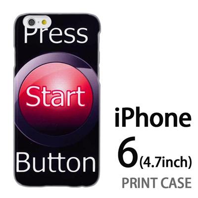 iPhone6 (4.7インチ) 用『No3 Press Start Button』特殊印刷ケース【 iphone6 iphone アイフォン アイフォン6 au docomo softbank Apple ケース プリント カバー スマホケース スマホカバー 】の画像