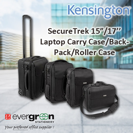 Kensington SecureTrek(TM) Lockable Laptop Bags  15/17 inch Carry case/Backpack/Roller Case