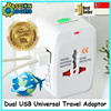 Cheapest!♥Newest DUAL USB PORT ♥Universal Travel Adapter ♥ AC power Adapter ♥ AU UK US EU