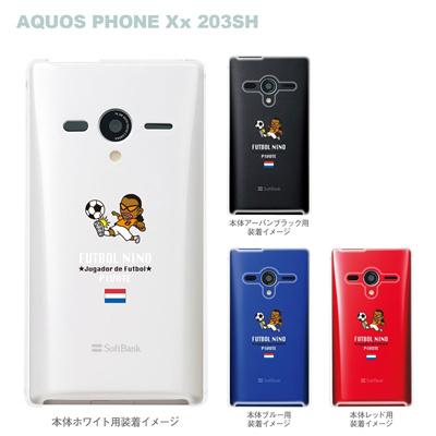 【AQUOS PHONEケース】【203SH】【Soft Bank】【カバー】【スマホケース】【クリアケース】【サッカー】【オランダ】 10-203sh-fca-hd02の画像