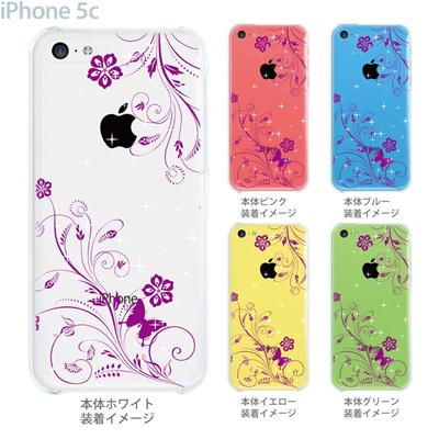 【iPhone5c】【iPhone5cケース】【iPhone5cカバー】【ケース】【カバー】【スマホケース】【クリアケース】【フラワー】【花と蝶】 22-ip5c-ca0067の画像