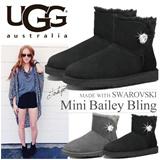 UGG アグ ブーツ 正規品 ムートンブーツ MINI BAILEY BUTTON BLING ミニベイリーボタンブリング レディース