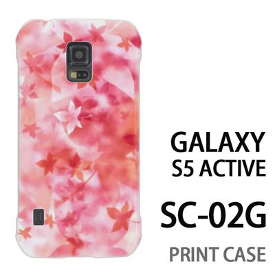 GALAXY S5 Active SC-02G 用『0312 ぼかし紅葉 オレンジ』特殊印刷ケース【 galaxy s5 active SC-02G sc02g SC02G galaxys5 ギャラクシー ギャラクシーs5 アクティブ docomo ケース プリント カバー スマホケース スマホカバー】の画像