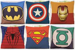 Avengers Cushion Cover / 43cm x 43cm / Superhero / Pillow Cover / Green Lantern / Batman / Superman / Spiderman / Ironman / Captain America / SG Seller