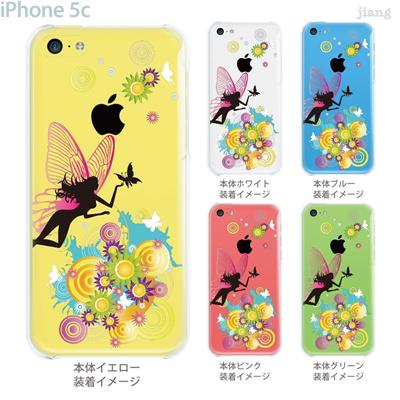【iPhone5c】【iPhone5c ケース】【iPhone5c カバー】【ケース】【カバー】【スマホケース】【クリアケース】【クリアーアーツ】【Clear Arts】【花と妖精】【天使】【フェアリー】 01-ip5c-zec020の画像