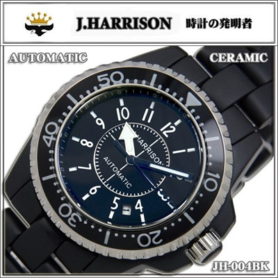J.HARRISON ジョンハリソン オートマチック 手巻・自動巻腕時計   【メンズ 紳士】JH-004BKの画像