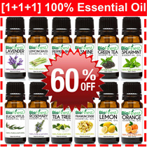[1+1+1] GSS 60% OFF ★ 100% Pure Essential Oil ★ USA Bestsellers ★ Lavender/ Orange/ Frankincense/ Lemongrass/ Peppermint/ Tea Tree/ Rosemary/ Jasmine/ Eucalyptus/ Lemon/ Jojoba/ Free Shipping