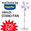 [myChoice by Powerpac] 16inch Stand Fan with Timer Control