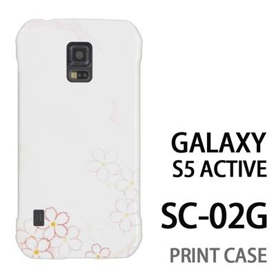 GALAXY S5 Active SC-02G 用『0312 ぼかし桜』特殊印刷ケース【 galaxy s5 active SC-02G sc02g SC02G galaxys5 ギャラクシー ギャラクシーs5 アクティブ docomo ケース プリント カバー スマホケース スマホカバー】の画像
