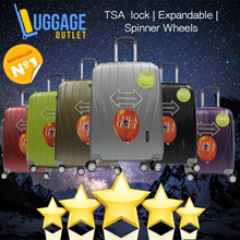 ★Best Seller★7 Colours★Hard Shell 8 Wheel Spinner ABS Expandable TSA lock Luggage Trolley Case 20/24/28 inch Red/Blue/Pink/Purple/Silver/Gray