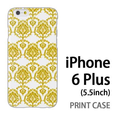 iPhone6 Plus (5.5インチ) 用『1001 葉紋様 黄』特殊印刷ケース【 iphone6 plus iphone アイフォン アイフォン6 プラス au docomo softbank Apple ケース プリント カバー スマホケース スマホカバー 】の画像
