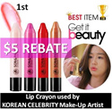 ❤FREE* BEAUTY WATER 60ml❤LIMITED PIECES!!★LIP/EYE CRAYONS★GET IT BEAUTY!★SONnPark★BEST SELLING KOREA COSMETICS★FAMOUS KOREAN CELEBRITY MAKE-UP ARTIST★