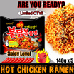 Buldak Hot Chicken Ramyeon/★SAMYANG SPICY CHICKEN [ISI 5PCS]/Samyang Ramen ayam pedas Roasted Mie Buldalk Bokkeummyeon 140g (Pack of 5) / Fire Mie / Super Pedas
