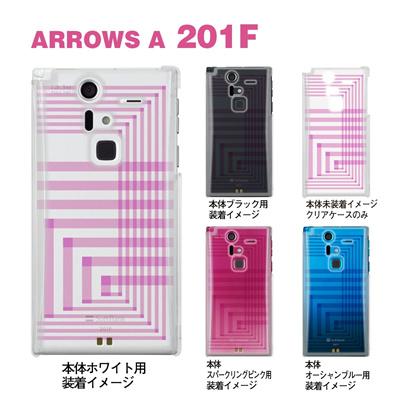 【ARROWS ケース】【201F】【Soft Bank】【カバー】【スマホケース】【クリアケース】【クリアーアーツ】【トランスペアレンツ】【カラーズ・ピンク】【アングル】 06-201f-ca0031r-pの画像