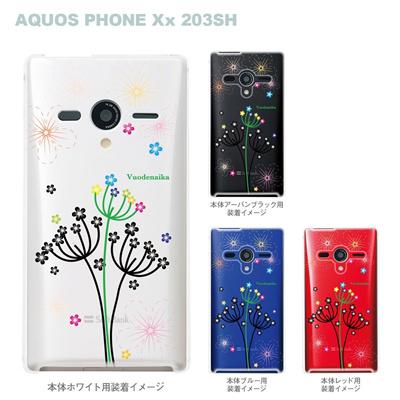 【AQUOS PHONEケース】【203SH】【Soft Bank】【カバー】【スマホケース】【クリアケース】【Vuodenaika】【フラワー】 21-203sh-ne0027caの画像