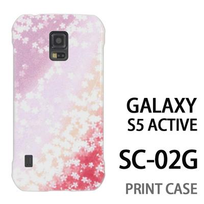 GALAXY S5 Active SC-02G 用『0312 桜グラデーション 赤×紫』特殊印刷ケース【 galaxy s5 active SC-02G sc02g SC02G galaxys5 ギャラクシー ギャラクシーs5 アクティブ docomo ケース プリント カバー スマホケース スマホカバー】の画像