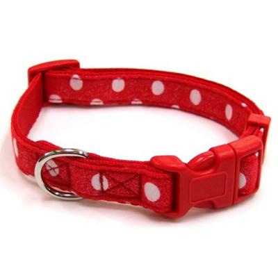 岡野製作所犬用首輪ドットカラー#15レッド