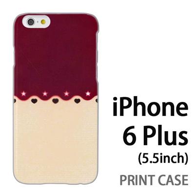 iPhone6 Plus (5.5インチ) 用『1002 星とハート 茶×ベージュ』特殊印刷ケース【 iphone6 plus iphone アイフォン アイフォン6 プラス au docomo softbank Apple ケース プリント カバー スマホケース スマホカバー 】の画像