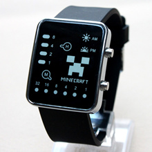 my world LED watches Minecraft game Students electronic watches
