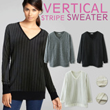 [The Juddy]New Item ◆ Vertical Stripe Sweater ◆ High Quality ◆ Trendy ◆ Flat Price ◆ design differentiated