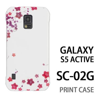 GALAXY S5 Active SC-02G 用『0312 桜フレーム』特殊印刷ケース【 galaxy s5 active SC-02G sc02g SC02G galaxys5 ギャラクシー ギャラクシーs5 アクティブ docomo ケース プリント カバー スマホケース スマホカバー】の画像