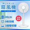 SuperSale期間限定価格【送料無料】台数限定スペシャル価格! お一人様1台限り!メカ式リビング扇風機 ホワイト (5枚羽根/30cm/3段階切替) おおたけ [EF-316T-W]
