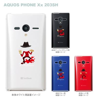 【AQUOS PHONEケース】【203SH】【Soft Bank】【カバー】【スマホケース】【クリアケース】【MOVIE PARODY】【ユニーク】【Fs Nightmare】 10-203sh-ca0053の画像