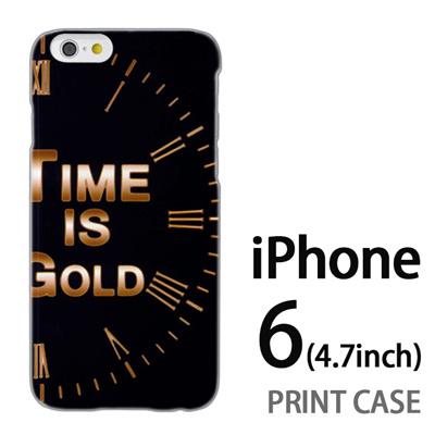 iPhone6 (4.7インチ) 用『No3 Time is GOLD』特殊印刷ケース【 iphone6 iphone アイフォン アイフォン6 au docomo softbank Apple ケース プリント カバー スマホケース スマホカバー 】の画像