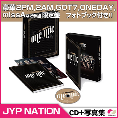 【安心国内発送】【CD】JYP NATION - JYP NATION KOREA 2014 [ONE MIC] CD+PhotoBook180p◆ 2PM 2AM GOT7 missA Jun.Kの画像