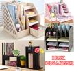 Desk Organiser Wooden Desk File Organizer★ Office Rack Files★ Document Rack★ Homework Files Paper
