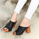 [KooRoo] Woman 8cm Wood Heel Sandle G1043