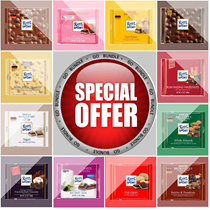 [Go Bundle] Ritter Sport chocolate 100g ranges such as Strawberry Yogurt Corn Crisp and many more!