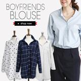 Korean long-sleeved shirt bottoming shirt vocational shirt  work clothing Buy 2 Free Shipping