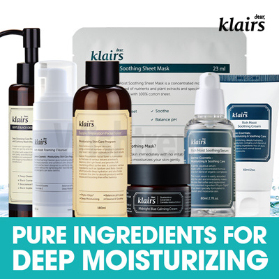 [KLAIRS] KLAIRS Skin Care Products: toner/serum/cream/cleanser/vitamin serum/make-up Deals for only S$45 instead of S$0