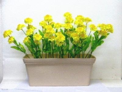 ●代引き不可送料無料菜の花 造花 プランターの画像