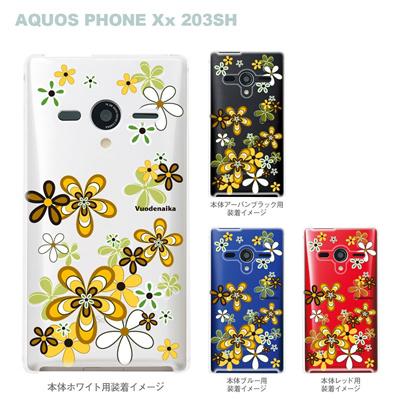 【AQUOS PHONEケース】【203SH】【Soft Bank】【カバー】【スマホケース】【クリアケース】【Vuodenaika】【フラワー】 21-203sh-ne0044の画像