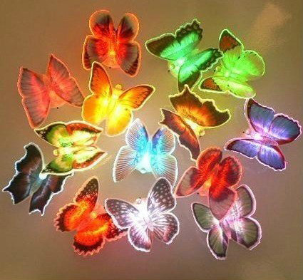 Qoo10Lampu Kupu LED 7 Warna Butterfly Lamp LED 7 Color HOU SJA3287634283 SJ0019 k010