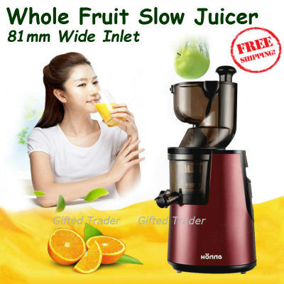 Fridja Whole Fruit Slow Juicer : Qoo10 - Electric Slow Juicer Whole Fruit Wide Big Mouth 81mm Powerful Low Nois... : Home Electronics