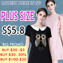 just need S$5.8 BIG PROMO Q EXPRESS  PLUS SIZE collection high quality dress/tops/blouse/shorts