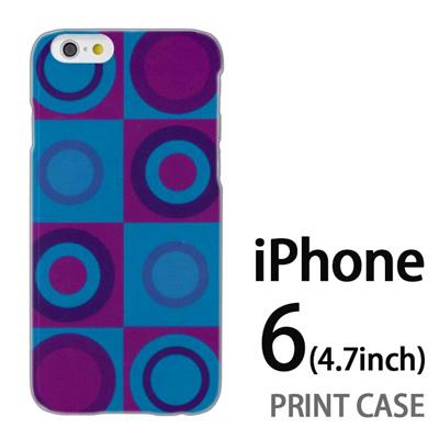 iPhone6 (4.7インチ) 用『No3 スクエア サークル 緑×紫』特殊印刷ケース【 iphone6 iphone アイフォン アイフォン6 au docomo softbank Apple ケース プリント カバー スマホケース スマホカバー 】の画像