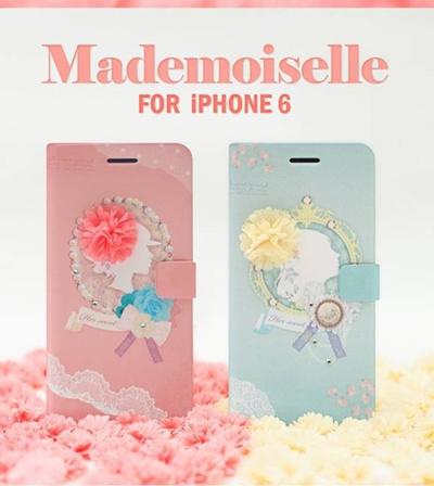 iPhone6カバーアイホン6 アイフォン6ケースiphoneケース アイフォン ブランド iphoneカバーiPhone6用 【iPhone6 4.7インチ】 Happymori Mademoiselle Diary (マドモワゼルダイアリー )【レビューを書いてメール便送料無料】の画像