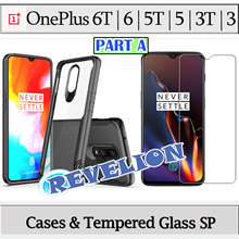 [PART A] ★Stocks in SG★ OnePlus 6T 6 5T 5 3T 3 Case Full Cover Tempered Glass Screen Protector