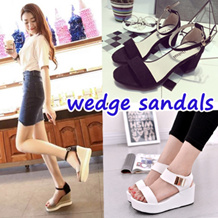 wedge Sandals Heels Korea style slipper flats design sg Slimming Shoes★Women shoes sandals Loafers winter shoes★Sports Shoes★winter boots jelly shoes★plus size big size spring summer winter shoes