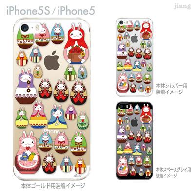 【iPhone5S】【iPhone5】【NAGI】【iPhone5ケース】【カバー】【スマホケース】【クリアケース】【アニマル】【マトリョーシカ】 24-ip5s-ng0031の画像