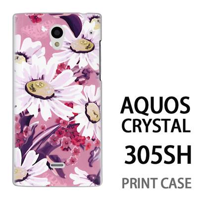 AQUOS CRYSTAL 305SH 用『0310 蒲公英 ピンク』特殊印刷ケース【 aquos crystal 305sh アクオス クリスタル アクオスクリスタル softbank ケース プリント カバー スマホケース スマホカバー 】の画像