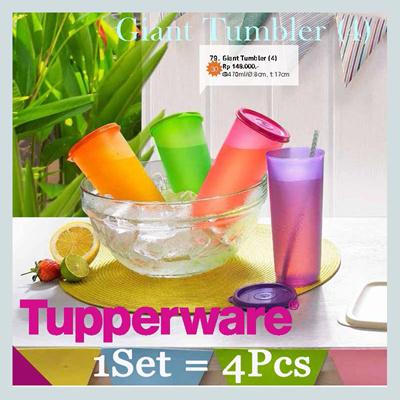 Tupperware Giant Tumbler (4) - Satu Paket Isi