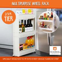 [REDUCED PRICE] 2-Tier 3-Tier or 4-Tier Multipurpose Wheel Rack Slim Design Fits in Tight Spaces