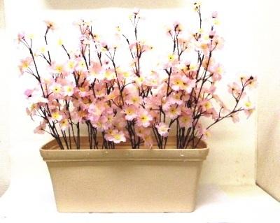 ●代引き不可送料無料さくら プランター 造花の画像